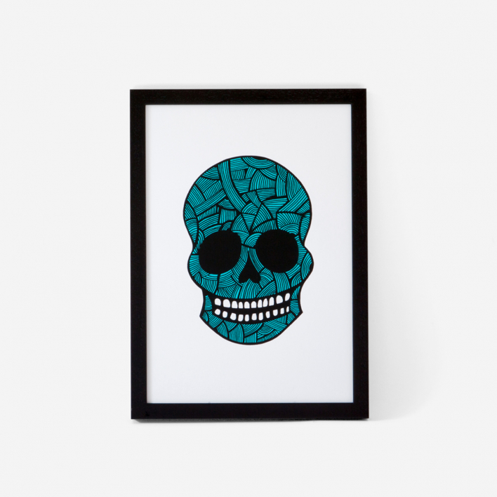 Josie Majetic Calavera Pink Mint #3 Screenprint