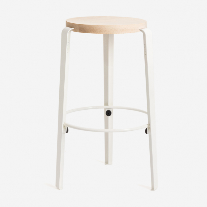 Tiptoe MI LOU Stool White Solid Beech Cloudy White | Solid Beech