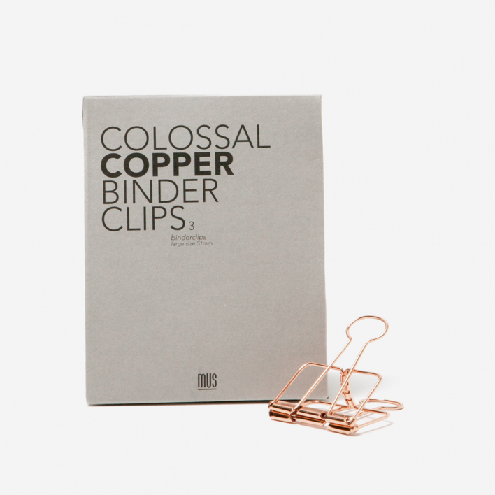 Mus Colossal Binder Clips 51 mm - kupfer
