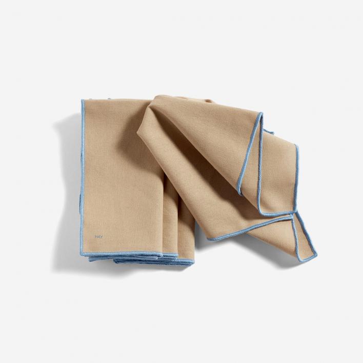 HAY Contour Napkin Beige - Set mit 4 Serviettentüchern