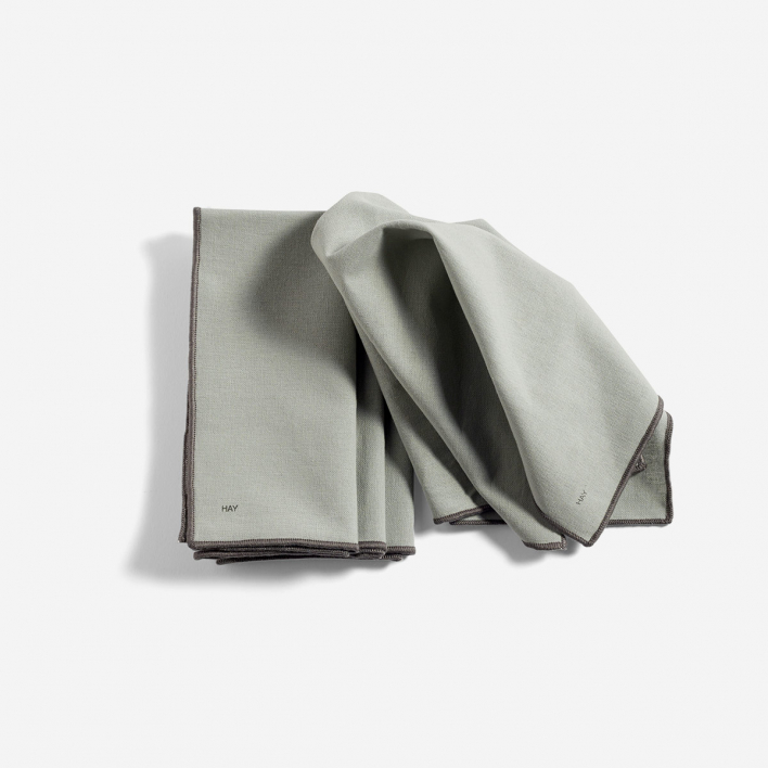 HAY Contour Napkin Grey - Set mit 4 Serviettentüchern