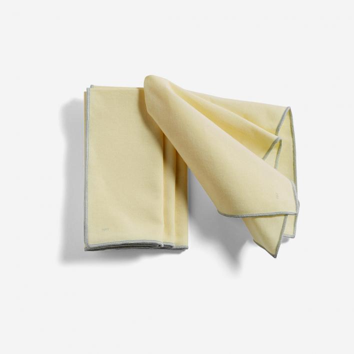 HAY Contour Napkin Lemon - Set mit 4 Serviettentüchern