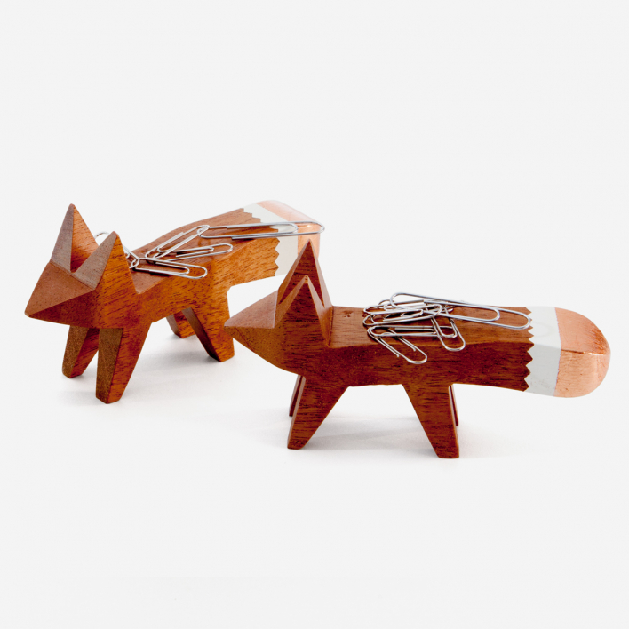 Karabachian Design Copper Tip Fox Paper Clip Holder