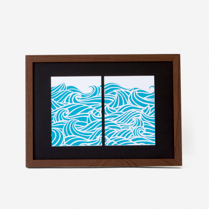 Bon Matin The Ocean Art Print Frame Dark Ash Tree Frame Dark Ash Tree