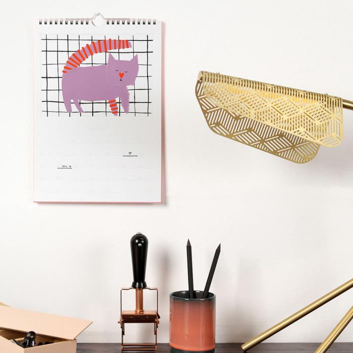 rikiki Do it Yourself Kalender 2020 – Wandkalender zum Selber-Gestalten