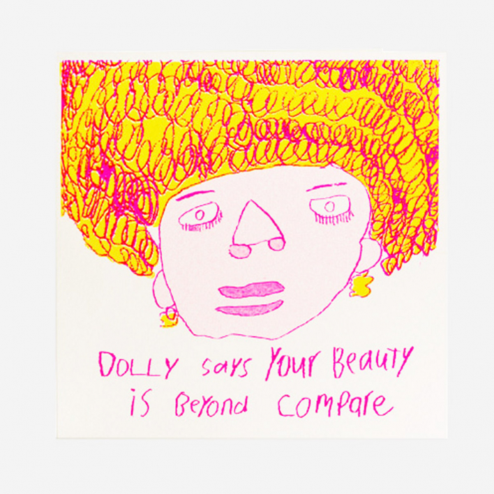 Arthouse Unlimited Dolly says Greeting Card