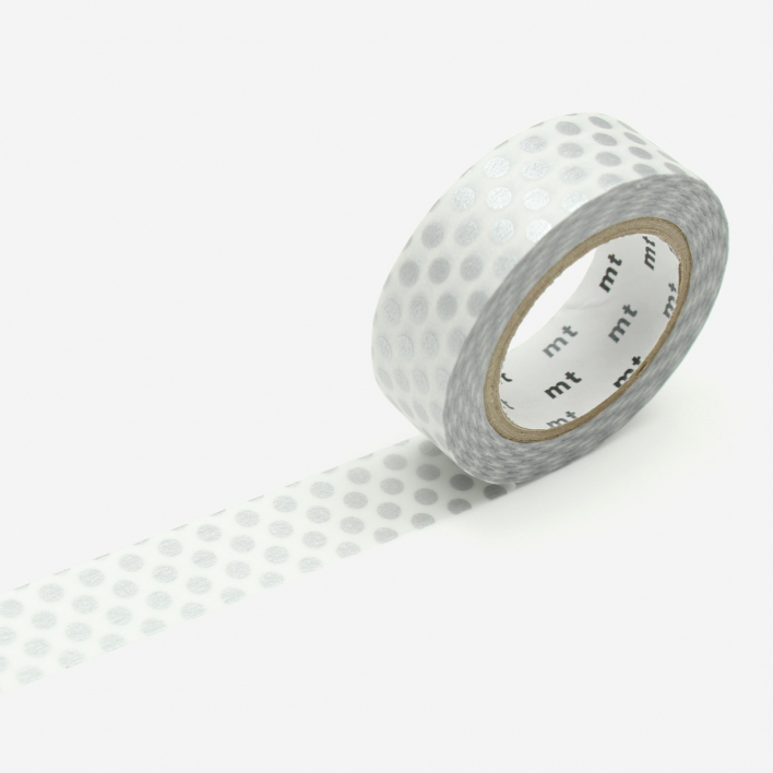 mt Dot Silver Masking Tape