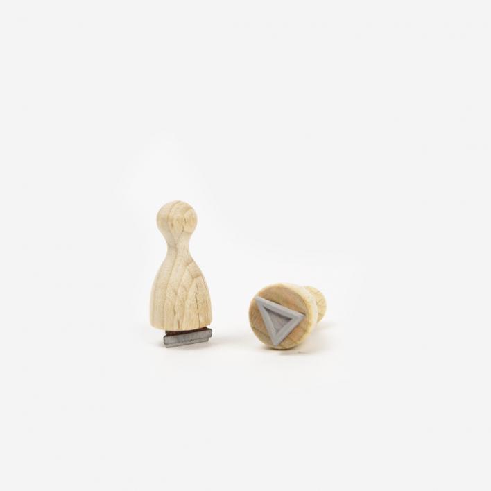 Perlenfischer Dreieck Mini Outline Stempel