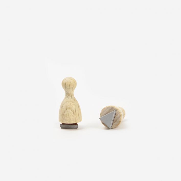 Perlenfischer Dreieck Mini Stempel