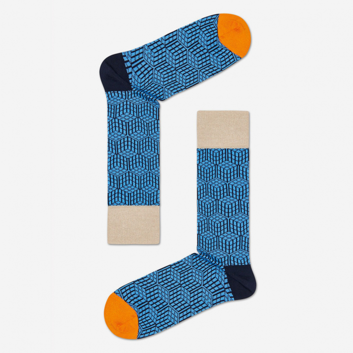 Dressed Dressed Geometric Socken - Navy