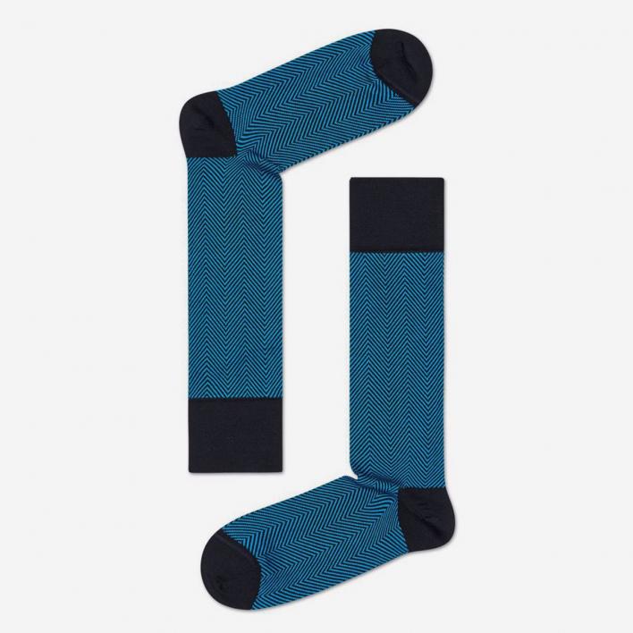 Dressed by Happy Socks Dressed Herringbone Socks - Black 43-46 43-46