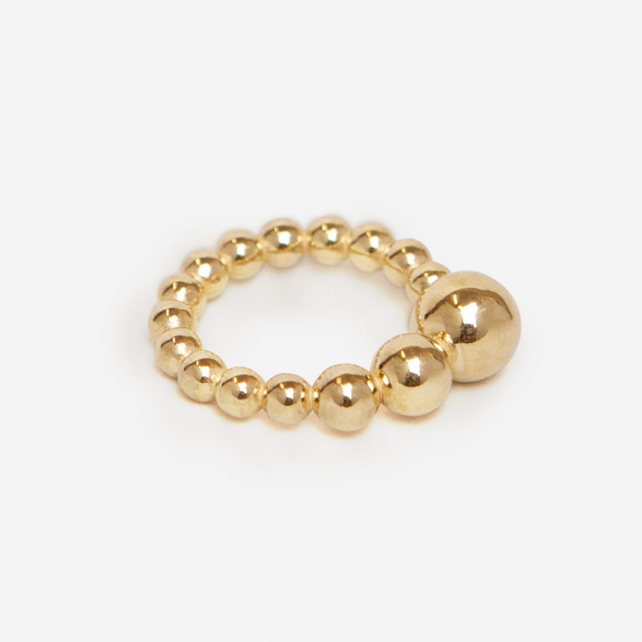 Saskia Diez Drop Ring - Brass vergoldet
