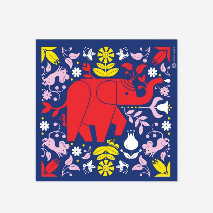Tad Carpenter Elephant Siebdruck