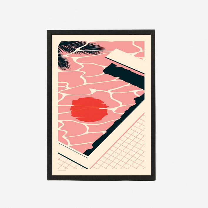Telegramme Paper Co. Endless Summer Pooltime Art Print - Kunstdruck ungerahmt