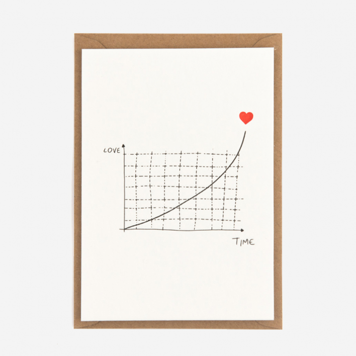 Studio Flash Exponantial Love Letterpress Postcard