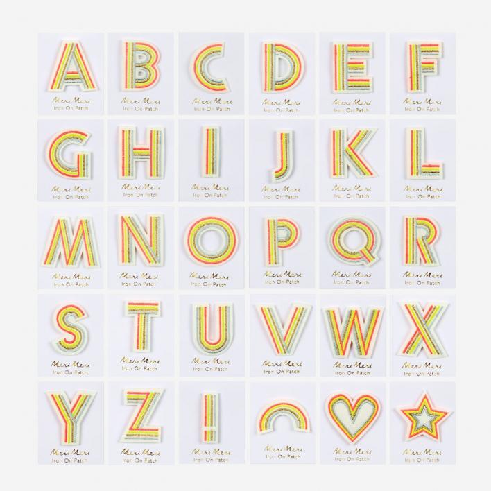Meri Meri Fabric Alphabet zum Aufbügeln Heart Heart