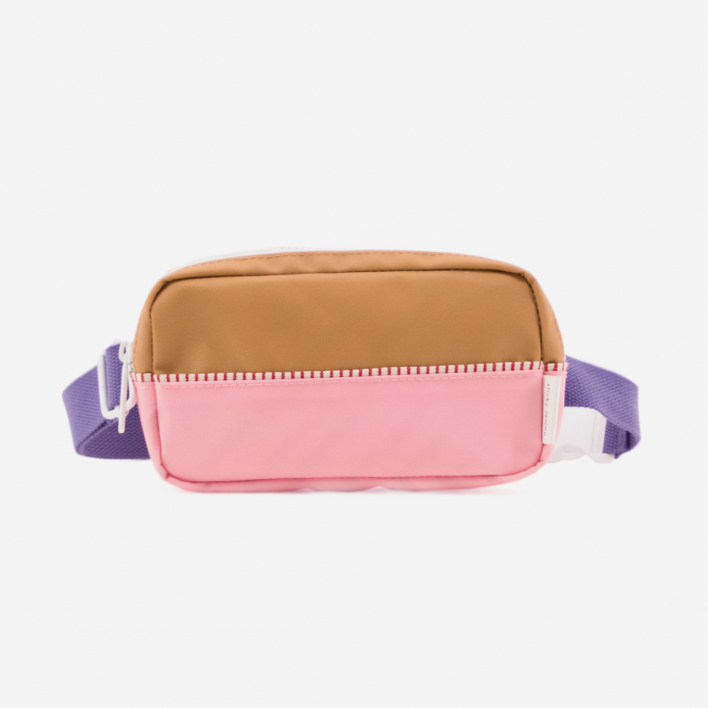 Sticky Lemon Bauchtasche Colour Blocking - Panache Gold Puff Pink