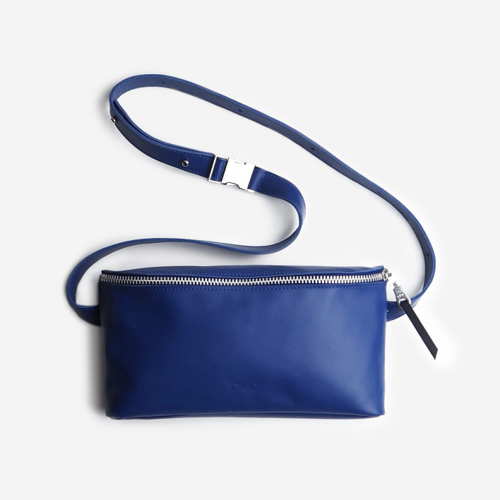 Puc Fanny Pack Deep Blue Leather