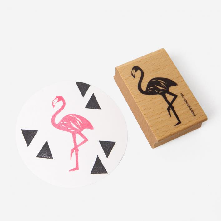 Perlenfischer Flamingo Stempel