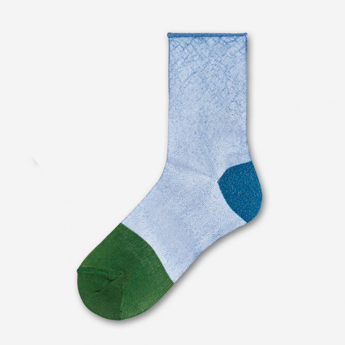 Hysteria by Happy Socks Franca Ankle Socks - Blue 36-38 36-38
