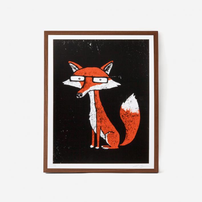 Factory 43 Fuchs Siebdruck Poster