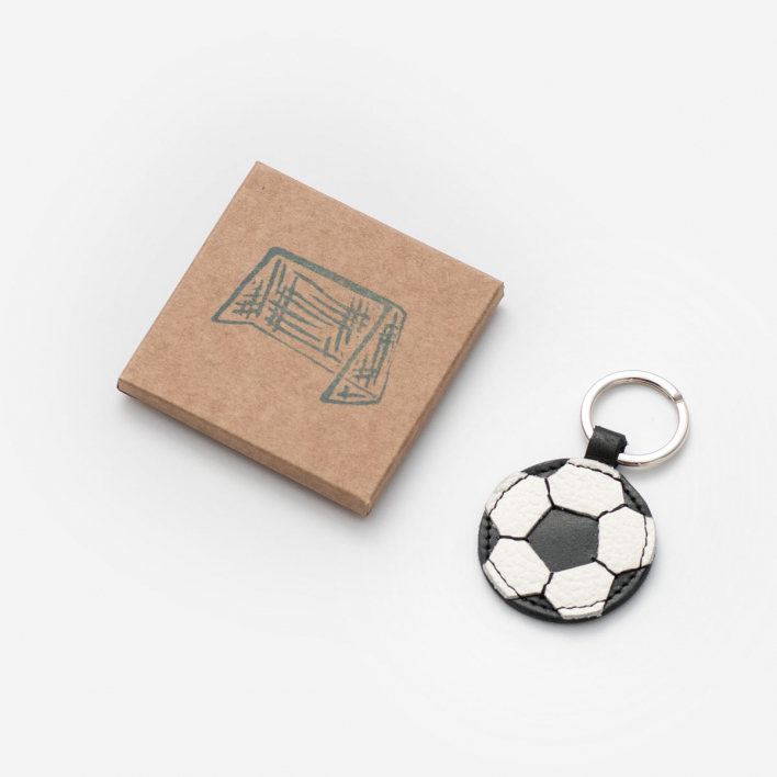 Herr Pong Football - Leather Key Ring