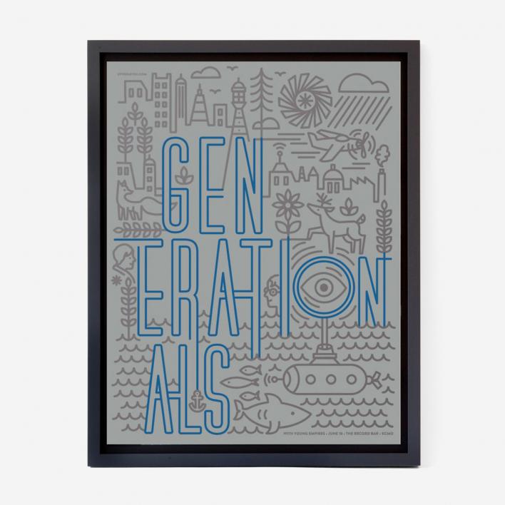 Tad Carpenter Generationals Screenprint