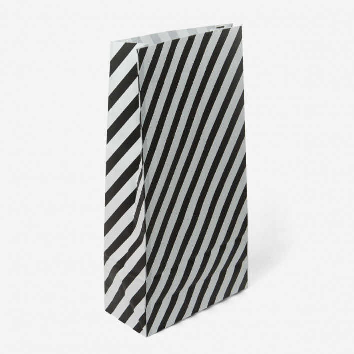 Kado Treat Bag Large Stripe - Black