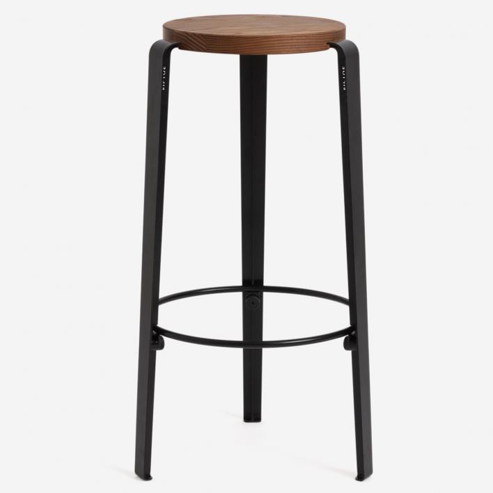 Tiptoe BIG LOU Bar Stool Graphite Black Tinted Oakwood Graphite Black   Tinted Oakwood