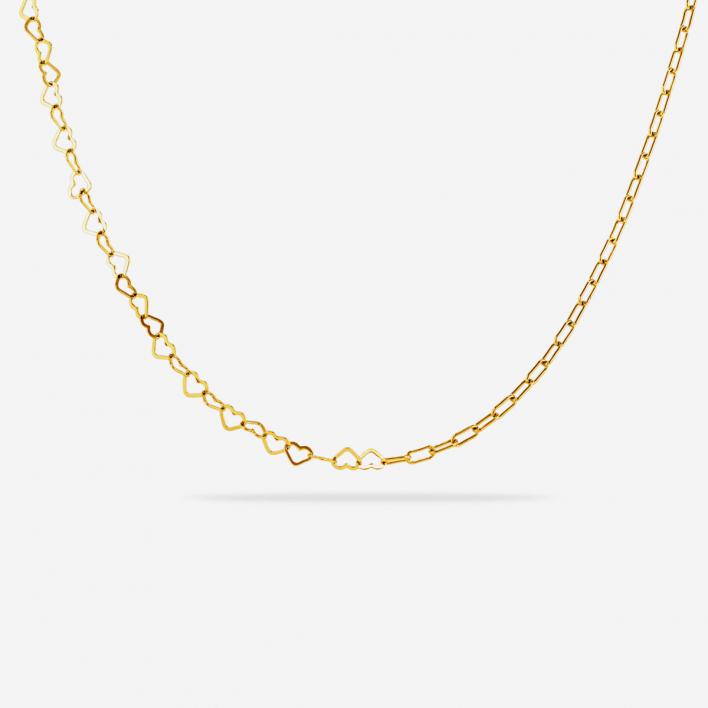 Half Heart Halskette - Silber 925 vergoldet                          </a>                    </div>                    <div class=