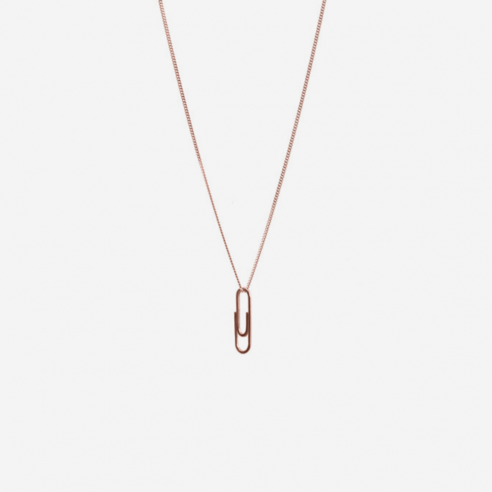 Martine Viergever Necklace Mini Paper Clip Rosé Gold