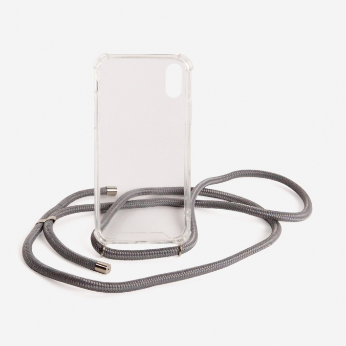 Phonelace Phone Necklace Grey - Silver iPhone XR IPhone XR