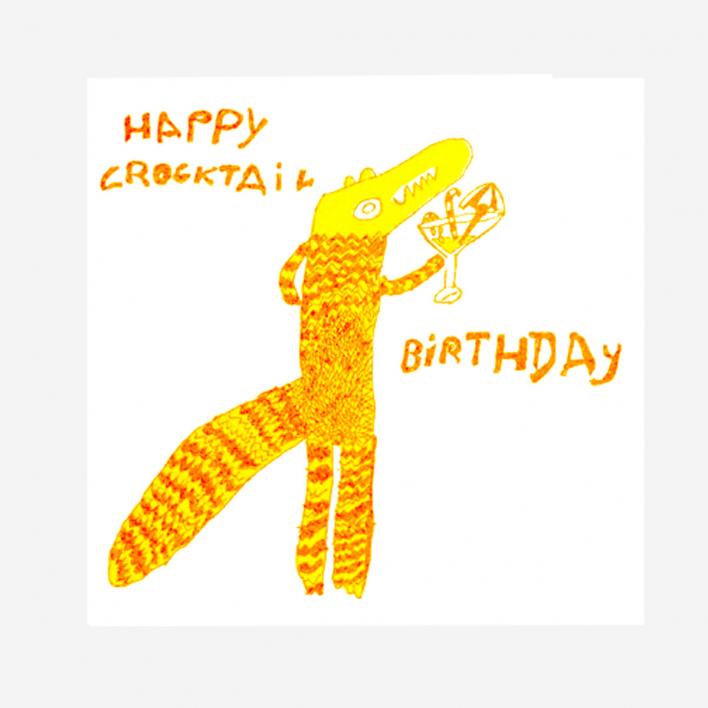 Arthouse Unlimited Happy Crocktail Birthday Grußkarte
