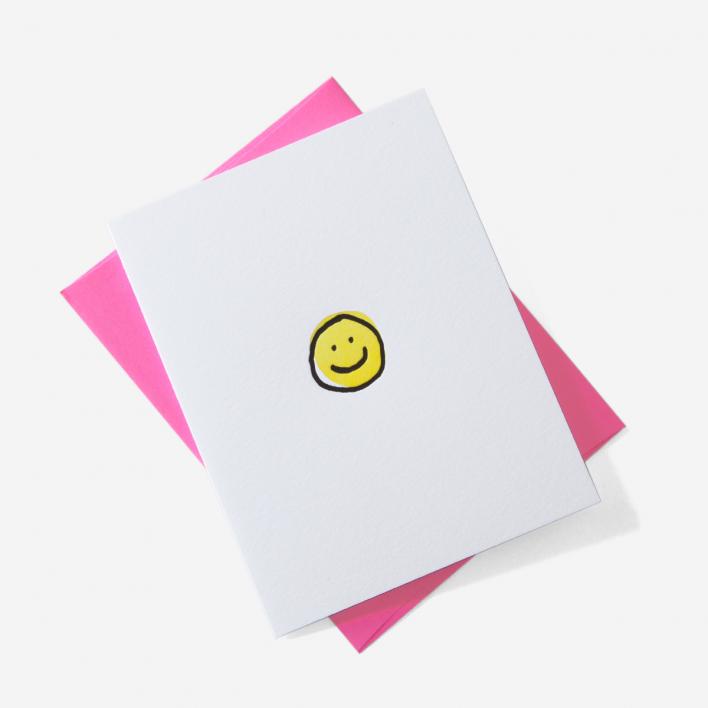 Ashkahn Happy Face Grußkarte