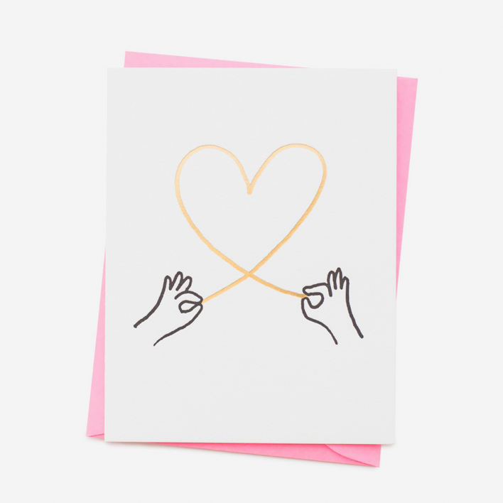 Ashkahn Heart String Greeting Card