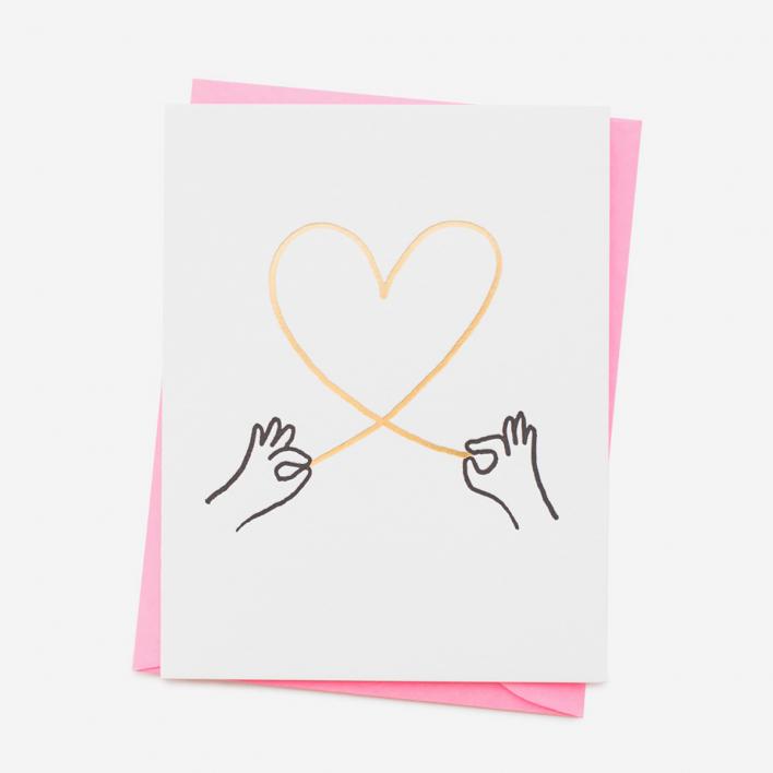 Ashkahn Heart String Grußkarte