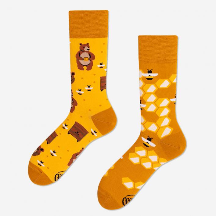 Many Mornings Honey Bear Socken 39-42