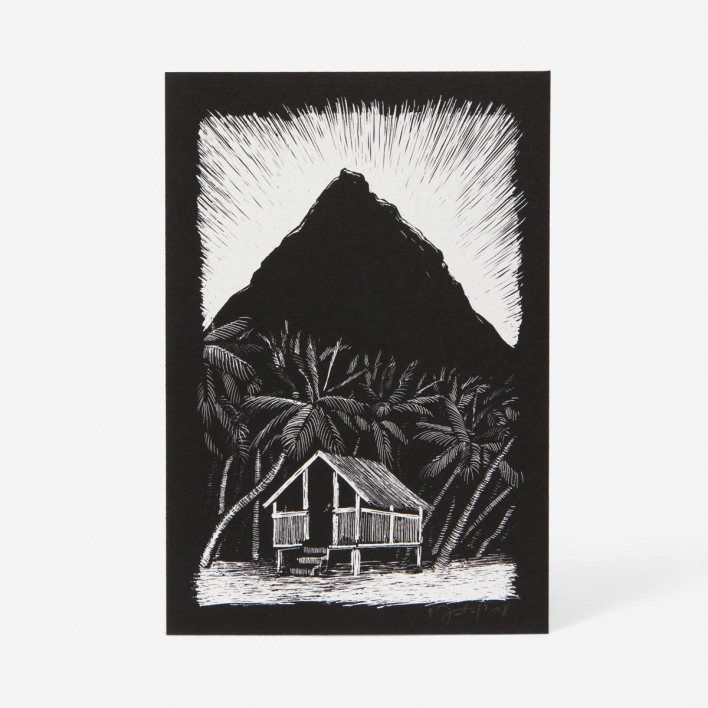 Janta Island Hut Screenprint