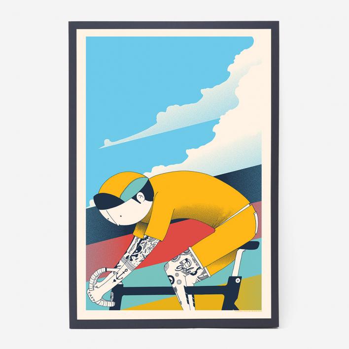 Zum Heimathafen Ink & Ride Screenprint Poster Anthracite Frame Anthracite Frame