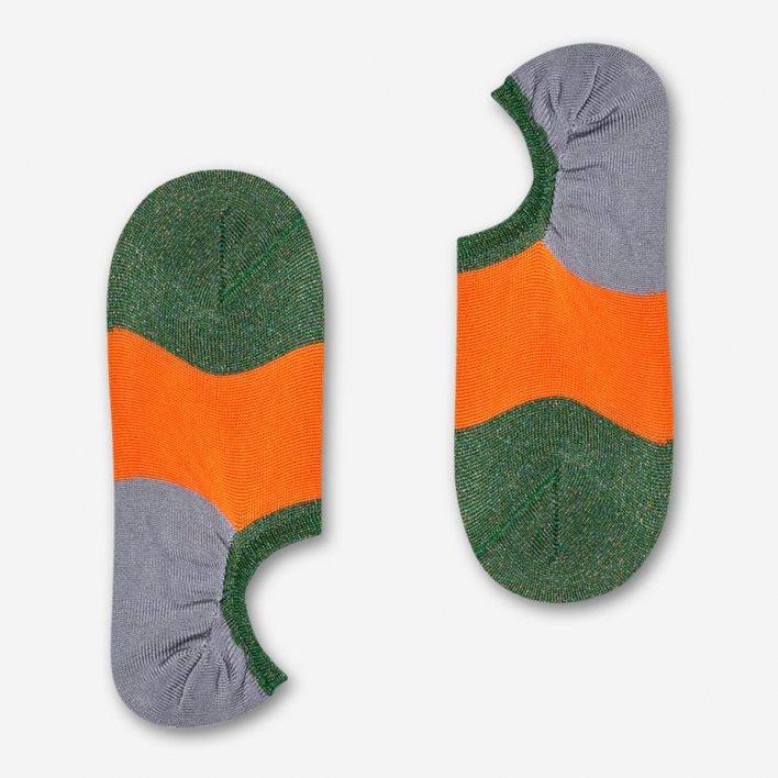 Hysteria by Happy Socks Isa Invisible Sneaker Socken - Orange 39-41