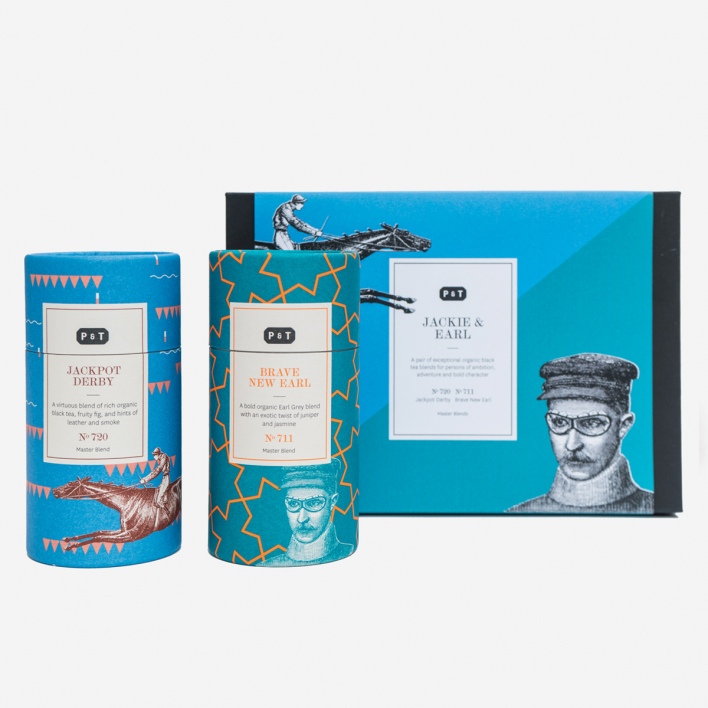 P & T - Paper & Tea Jackie & Earl Duo Tea Set in Gift Box