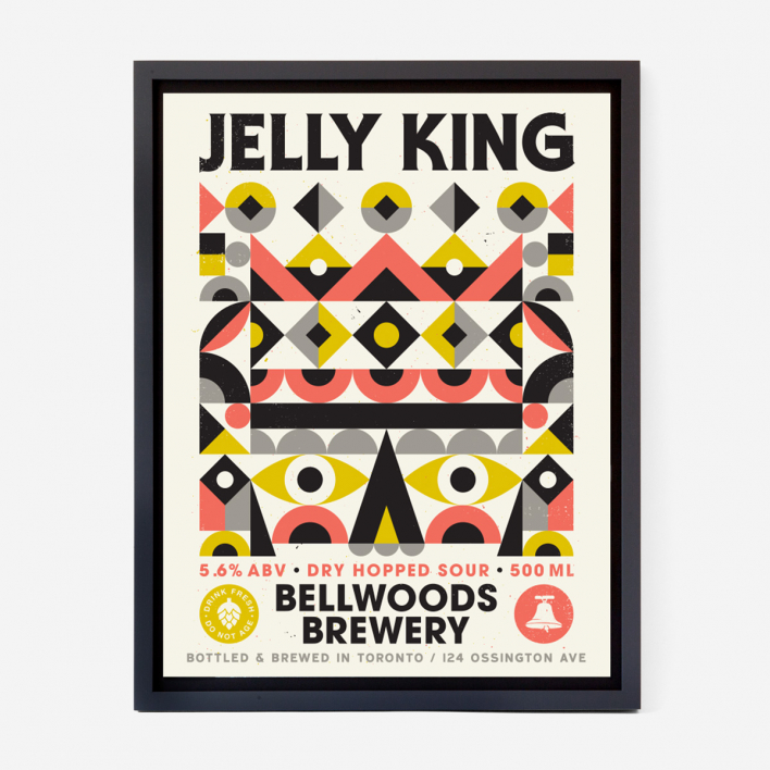 Doublenaut Jelly King Screenprint Poster no frame no frame