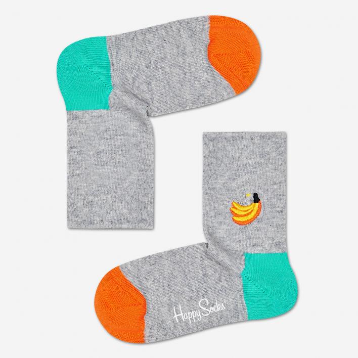 Happy Socks Kids Banana Embroidery Socken