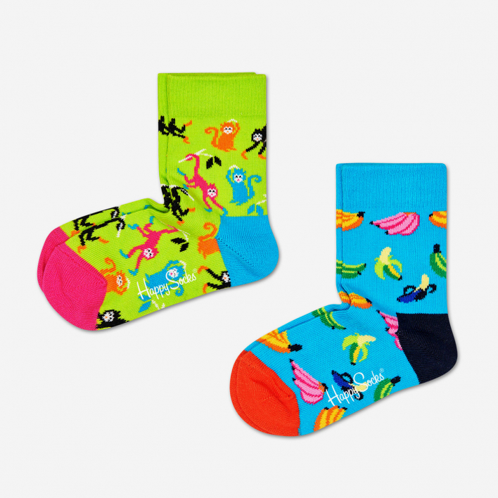 Happy Socks Kids Banana Socken 2-Pack 12-24 Monate