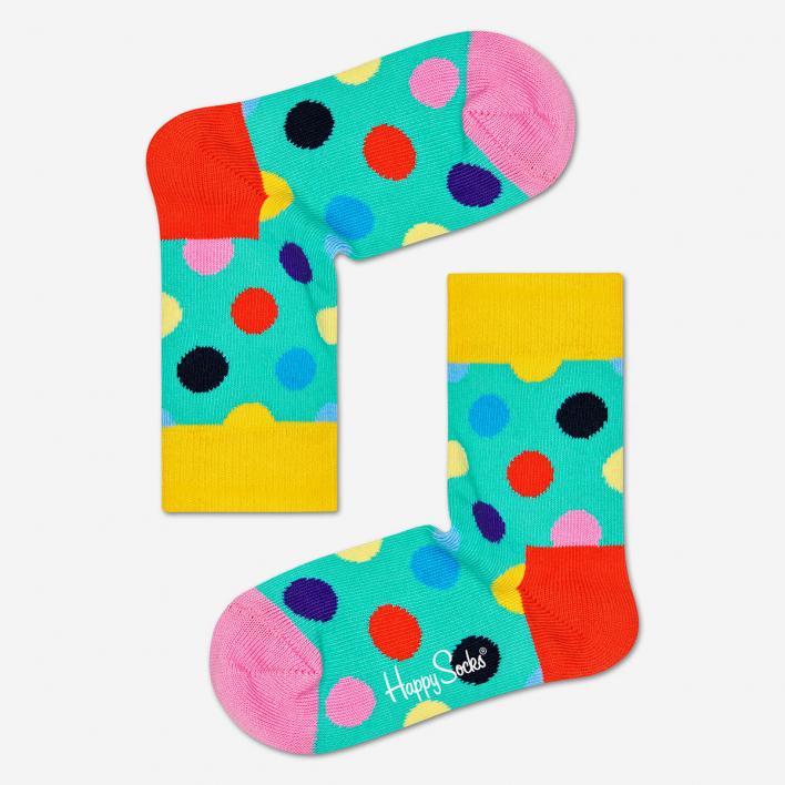 Happy Socks Kids Big Dot Turquoise Socken 2-3 Jahre