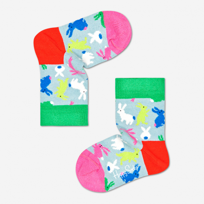 Happy Socks Kids Bunny Grey Blue Socken
