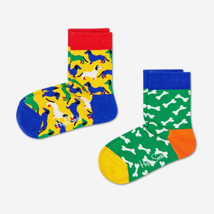 Happy Socks Kids Dog Socken 2-Pack 0-12 Monate