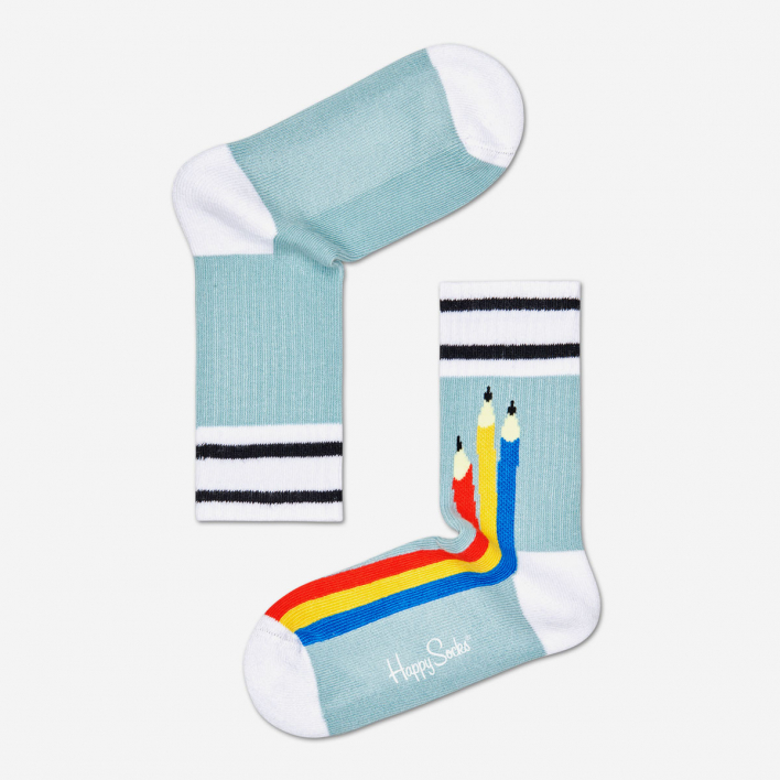 Happy Socks Kids Pen Rib Socken