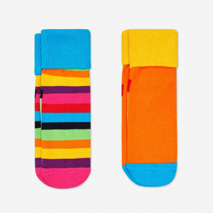 Happy Socks Kids Stripe Anti-Slip Socken Multicolor 2-Pack