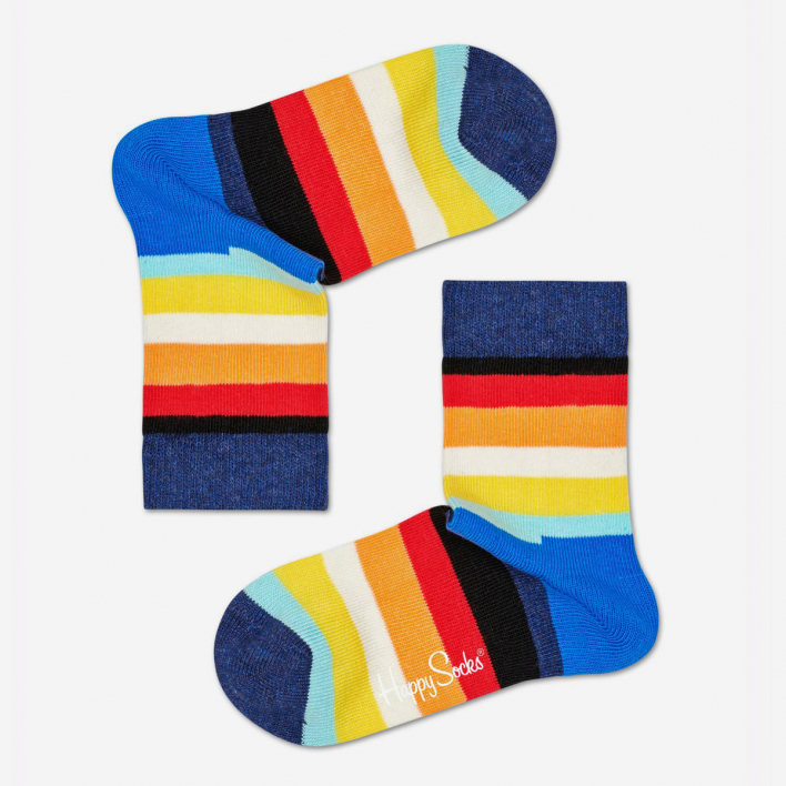Happy Socks Kids Stripe Weiss Socken